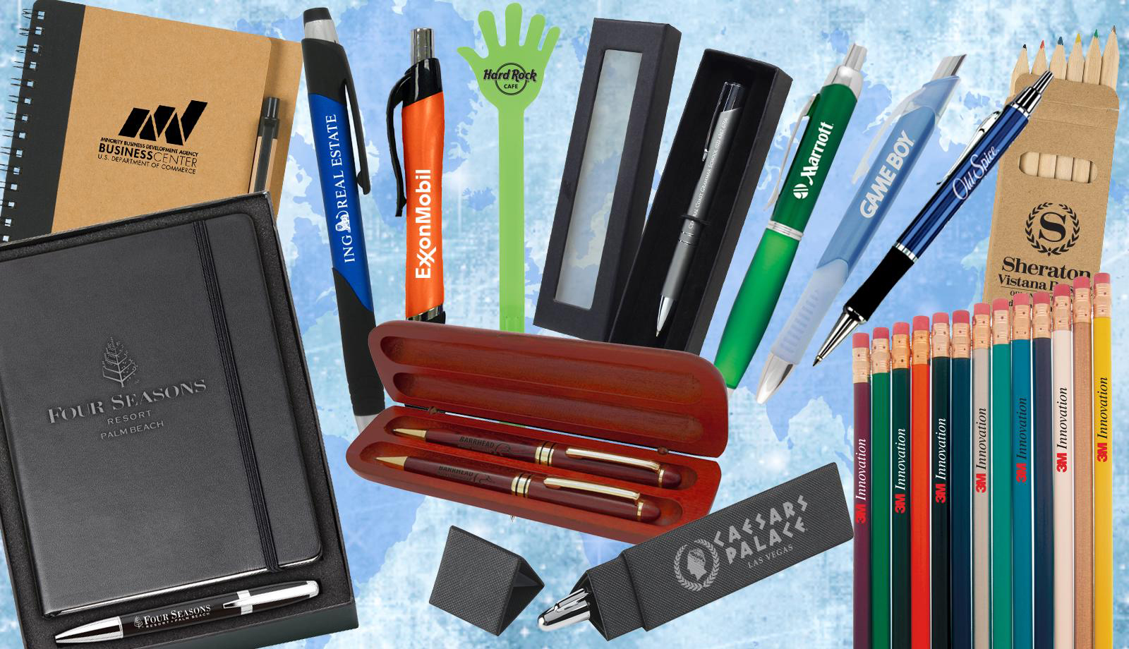 Marketing Pens Books Flash Drives Promotions